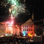 Das große Feuerwerk über dem Städtle rundet die Walpurgisnacht ab.
