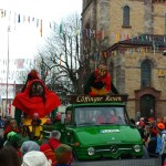 Mit der großen Hexe unterwegs am Narrentreffen in Bräunlingen!