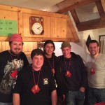 Die neu Gewählten (v.l.n.r.) Tobias Nägele, Andreas Burger, Kevin Meier, Andi Wolber, Benjamin Hofmeier